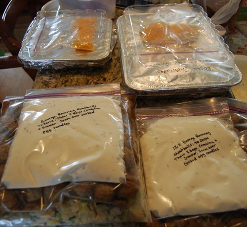 10 Freezer meals in a day