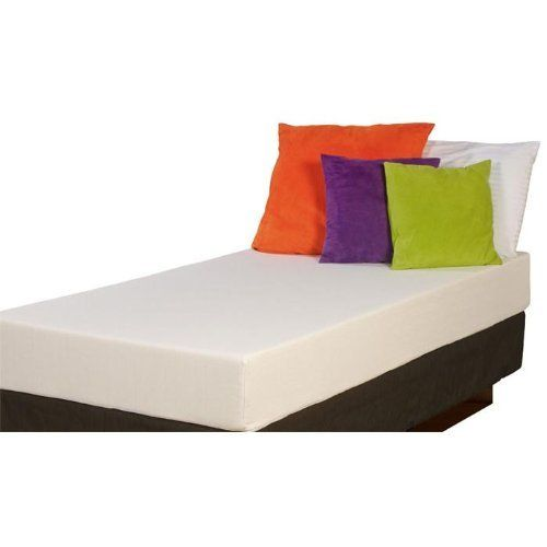 """Cradlesoft 8"""" Memory Foam Twin Mattress by Cradlesoft. $280.48. 8"""" Memory Foam. Top layer of luxurious memory foam covered with a deluxe soft knit fabric. High density foam base provides firmness, support and longevity. Twin Size Mattress. Dimensions: 8x38x75. The Cradlesoft 8"""" Memory Foam Twin Mattress is designed with a top layer of luxurious memory foam that molds to your body's contours for maximum comfort and best sleep. High density foam base provides firmness, su..."""