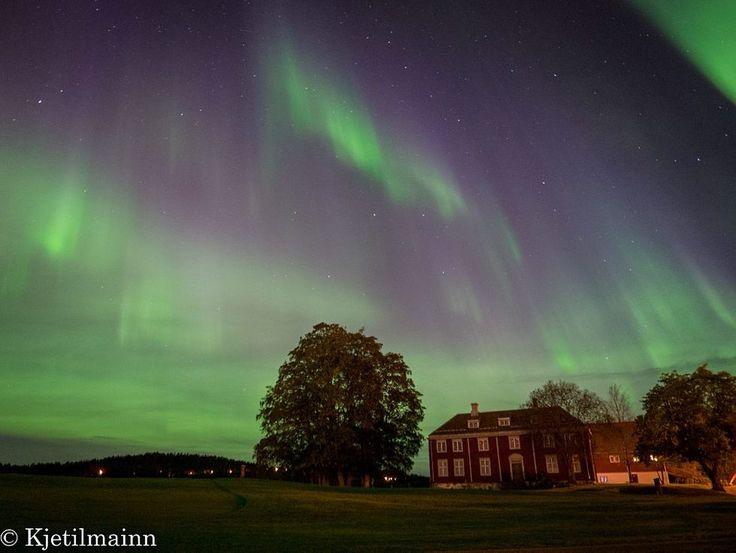 Fargespill over golfbanen på Byåsen.  (Foto: Kjetil Ytrehus)