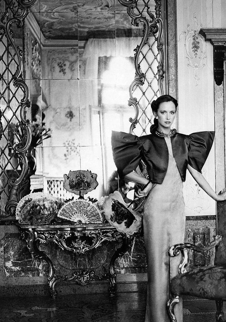 Karen Graham, fashion by Tracy Mills, photo by Skrebneski