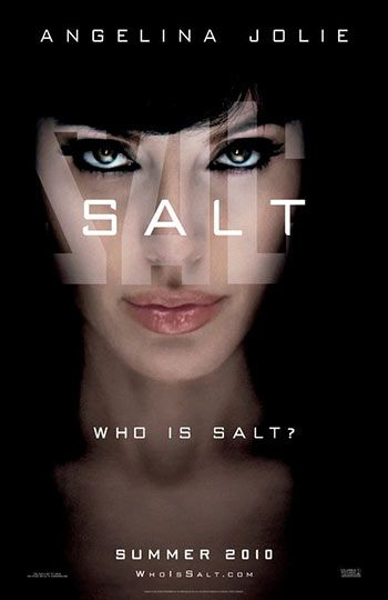 Salt (2010) is about A CIA agent goes on the run after a defector accuses her of being a Russian spy.