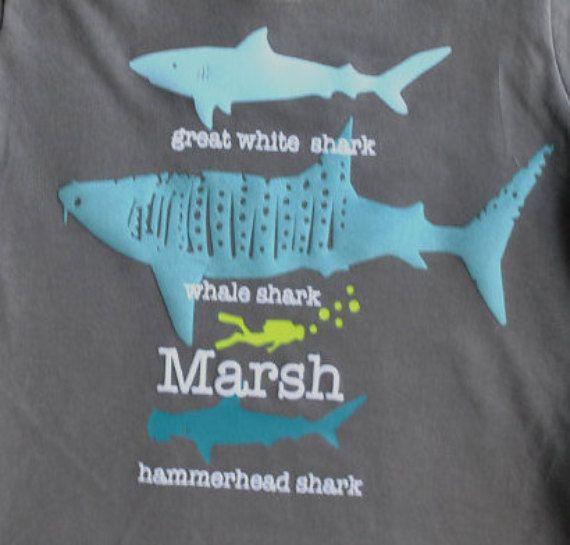 Tiburón cumpleaños t-shirt camisa de tiburón para niños