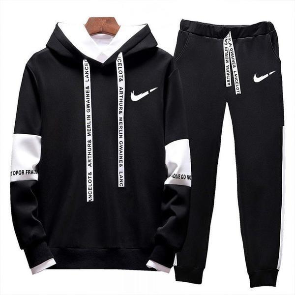 Details about  /Men Basic Letter Hoodies Hooded Tops Sweatshirt Tracksuit Long Sleeve Sportswear