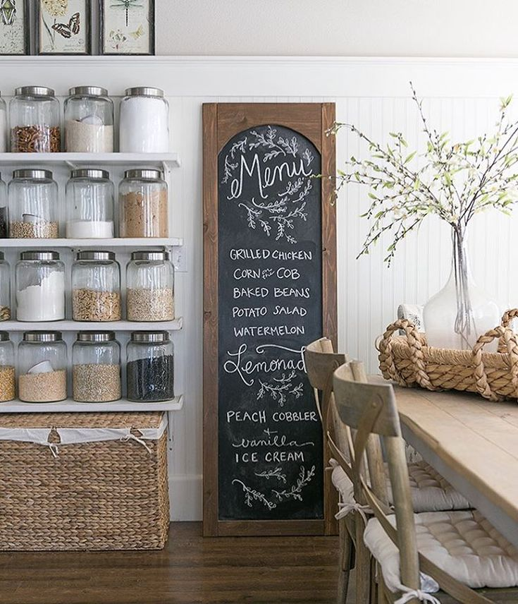 Do you have a menu chalkboard in your kitchen? Do you use it as a menu board or something else? I shared the tutorial a couple weeks ago for this giant arched chalkboard on the blog. I'm trying to decide if I'm going to keep it here in the kitchen or move it to the wall that goes into my kitchen. #diy #sponsored #ilovechalkboards