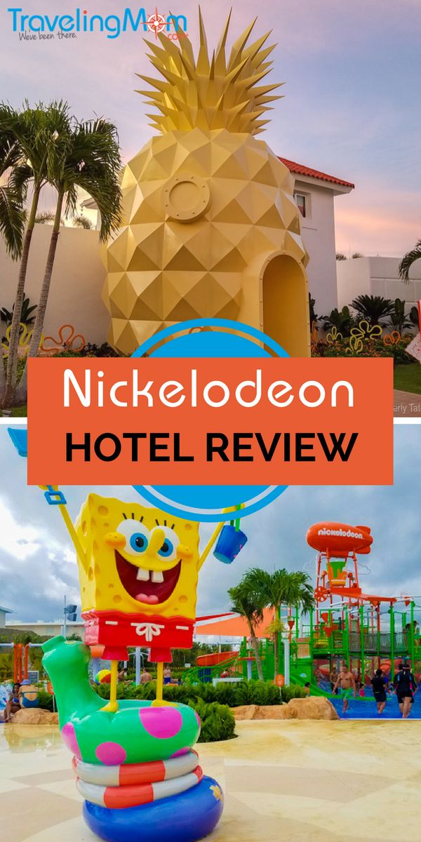 Our Nickelodeon Hotel review of the new resort in Punta Cana, Dominican Republic. Info on the rooms, waterpark, dining, and resort tips.