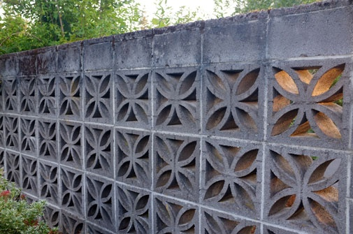 Decorative Concrete Privacy Fence Fences Gates Paths