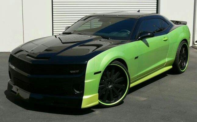 Black  Neon Green Camaro  My All Time Favorite Car  Pinterest