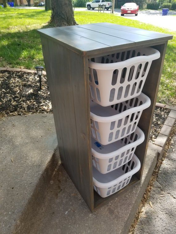 4 Laundry Basket Holder Room, Laundry Basket Cabinet
