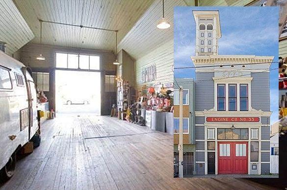 Old Firehouse, 117 Broad St, San Francisco, California. La stazione dei pompieri è stata in attività dal 1896 to 1974. Costa 975.000 dollari