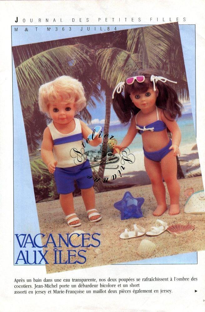❤ Page originale Jean Michel et Marie Françoise MODES ET TRAVAUX Juillet 1984 ❤ : 1,99 EUR