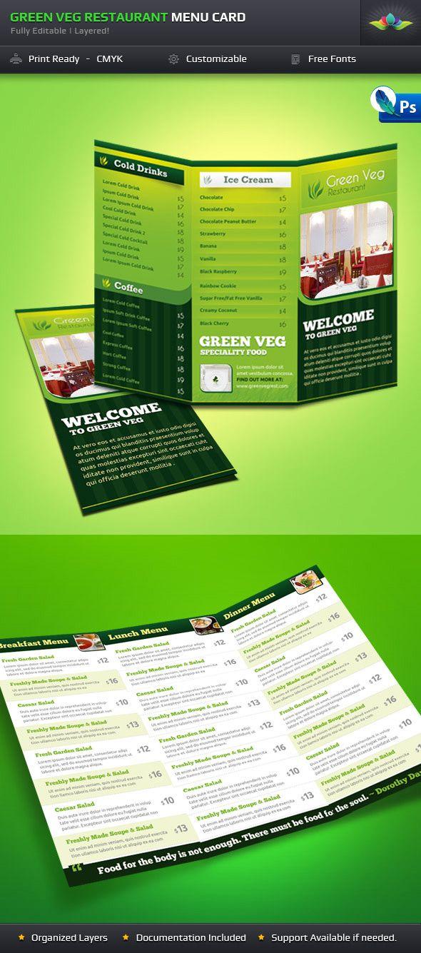 Green Veg Restaurant Tri-fold by Saptarang.deviantart.com on @deviantART
