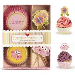 Happi Cupcake Kit..so cute for a little girls birthday party!
