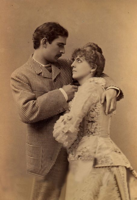 Actor Maurice Barrymore (1845 - 1905) & wife Georgiana Drew Barrymore - parents of Lionel, Ethel and John Barrymore. Georgiana was the daughter of actress and theatre owner Louisa Lane Drew (1820-1897) and stage actor John Drew (1827-1862).