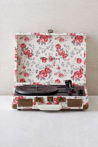 Crosley X UO Cruiser Briefcase Portable Vinyl Record Player Floral #recordplayer #vinyl #turntable $229.00