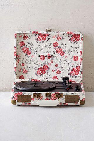 Crosley X UO Cruiser Briefcase Portable Vinyl Record Player Floral #recordplayer #vinyl #turntable $229.00