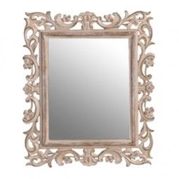 Love this...Carved Wood Effect Mirror
