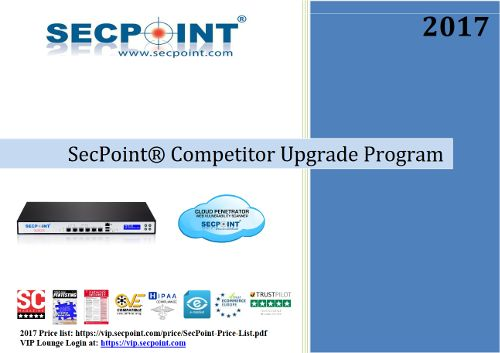 New SecPoint Competitor Trade in Program  Click for benefits https://www.secpoint.com/competitive-trade-in-product-upgrade.html #secpoint #utm #firewall #protector #penetrator #infosec