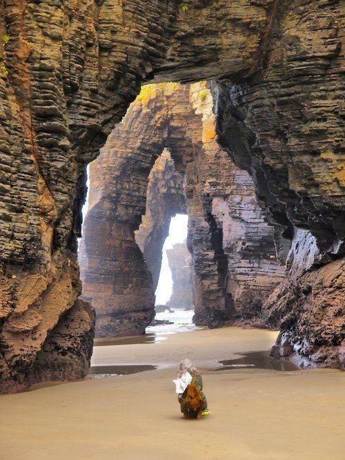 Beach Cathedral, Ribadeo, Lugo, Galicia, Spain