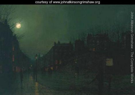 View of Heath Street by Night - John Atkinson Grimshaw - www.johnatkinsongrimshaw.org
