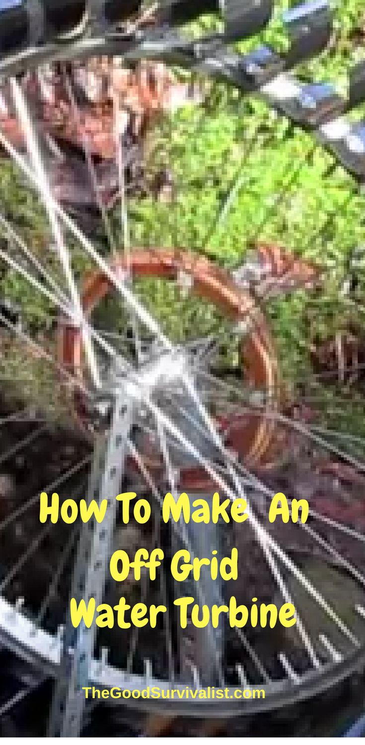 This homemade water turbine is beautiful, and functional and would be  great for an off grid homestead. It shows what can be done with a little creative thinking.  This video is very well done and is definitely worth your time.  http://www.thegoodsurvivalist.com/beautiful-homemade-off-grid-water-turbine-made-from-a-bike-wheel-and-pvc-cups/