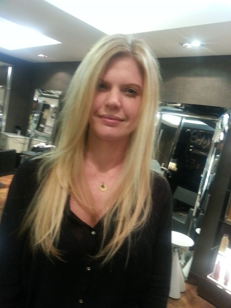some blonde cut and styling done by Rian