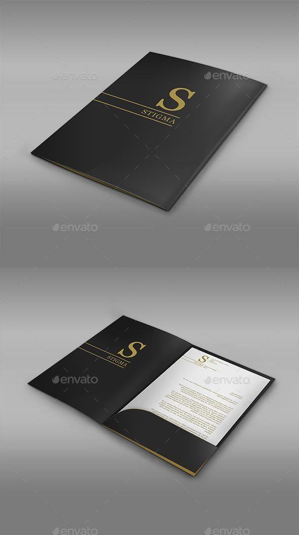 3d Folder Mock Up Company Folder Design Folder Design Inspiration Corporate Folder Design