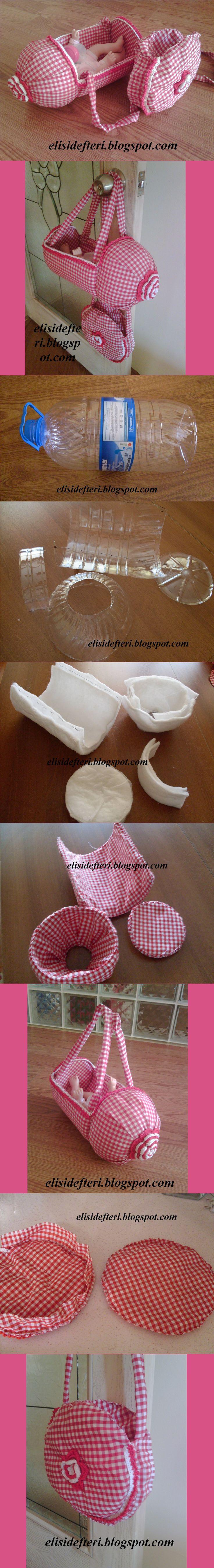 Elişi Defteri: Pet şişeden oyuncak bebek puseti ve malzeme çantası