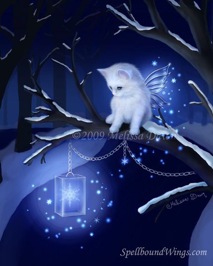 Snowflake+fairies   Snowflake Fairytail Fairy Cat by Melissa Dawn & Spellbound Wings