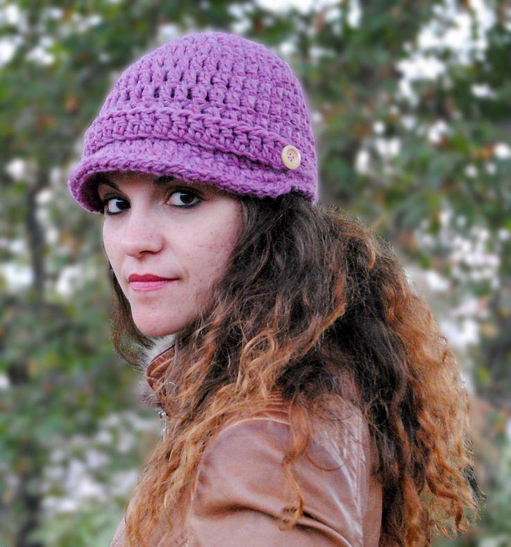 Winter hat for women crochet newsboy hat cap with brim brimmed beanie womens hat winter accessories MP020