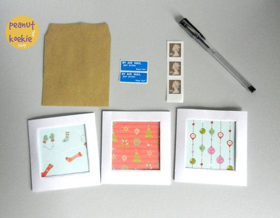 Christmas card set. 3 different cards in set. by peanutkoekie