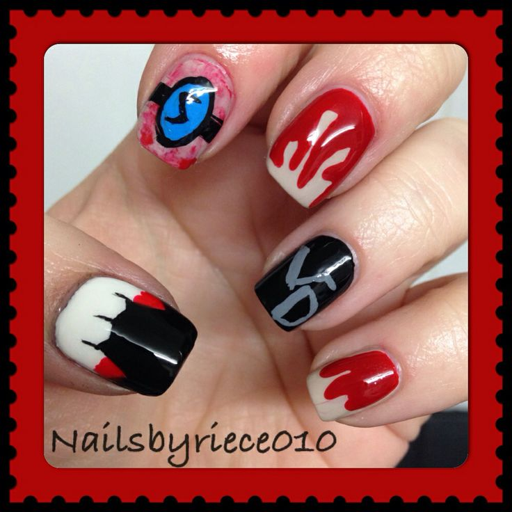 22 best tv film inspired nail art images on pinterest nail arts the vampire diaries blood teeth and the salvatore ring prinsesfo Choice Image