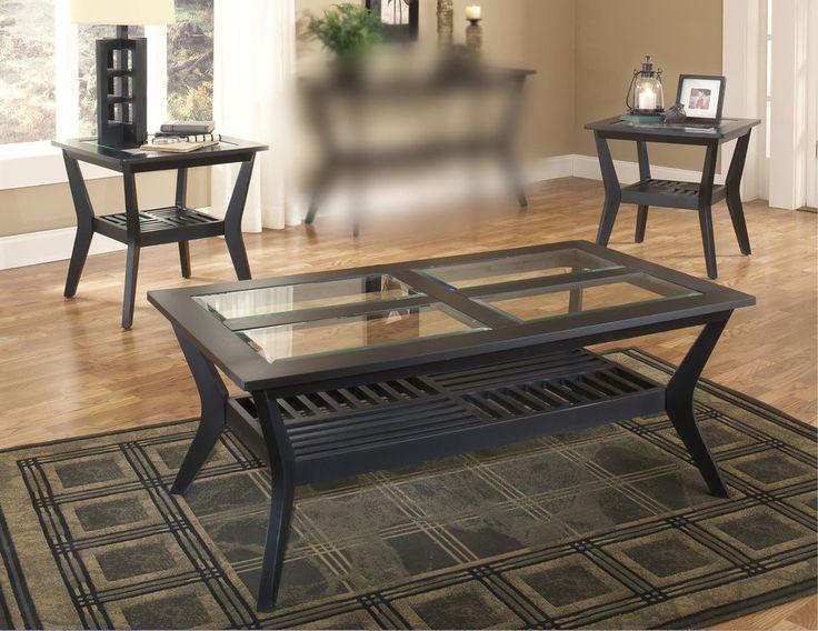 Caliente Black U0026 Glass Coffee Table Set Part 62