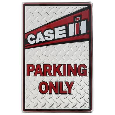 "Case IH Parking Only Sign - ShopCaseIH.com Only Case IH and Red Power fans can park here! This decorative diamond-plated is decorated with a white Case IH graphic. Metal sign measures 18""H x 12""W. #CaseIH"