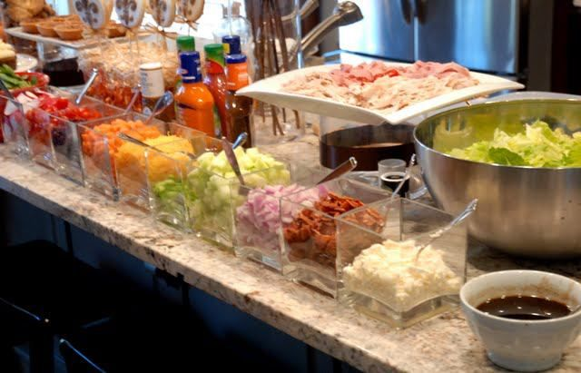 salad bar also taco bar.This could also be an awesome, Sandwich Bar, Get the Bread and Rolls out.
