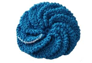Tutorial: flor en espiral tejida a crochet. Tejiendo Peru