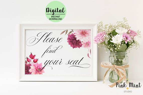 Find your seat sign Wedding Sign Wedding Seating Sign