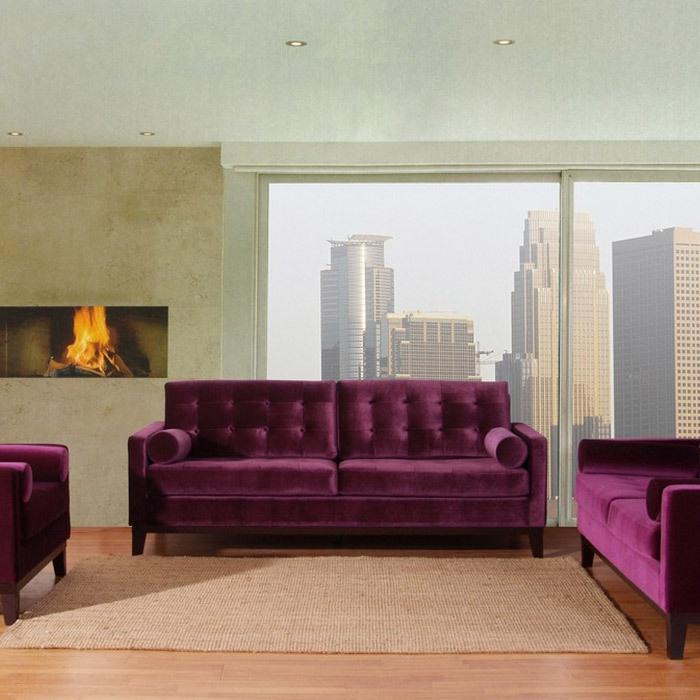 Armen Living Centennial Velvet Sofa, Purple   Contemporary   Sofas   By  Wayfair