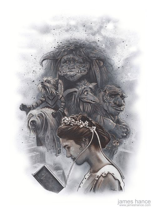 """L'omaggio del giorno: Labyrinth secondo James Hance.jameshance:  """"Should You Need Us?"""" (Labyrinth)18"""" x 24"""" Graphite / Acrylic / Color Pencil on Watercolor PaperPrints, very, very soon :) It's been a pleasure painting for you, as always!xwww.jameshance.com"""