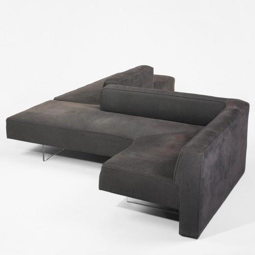 Vladimir Kagan, #7070 Acrylic Base Omnibus System Sofa for Vladimir Kagan Designs, c1970.