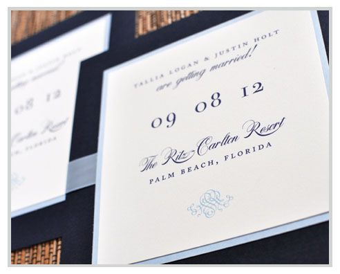 What classy Save the Date Cards!