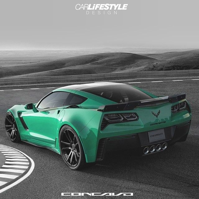 2015 Corvette Z06 - Look at that awesome colour! It just falls a little shy of a seafoam green but regardless it looks sweet!!