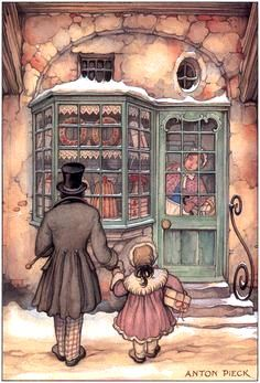 Shopping With Papa ~ Anton Pieck