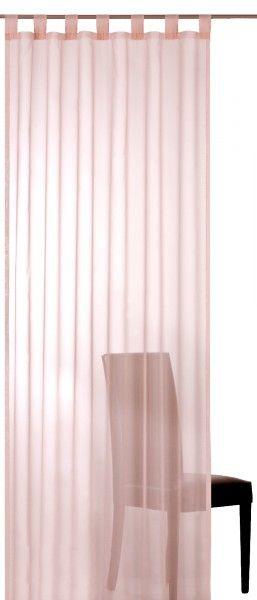 Elbersdrucke Plana 14 rosa Vorhang Schal Gardine mit Schlaufen und Universalband transparent
