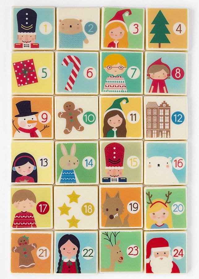 Postreadicción: Galletas decoradas, cupcakes y cakepops: Calendario de Adviento de chocolate blanco