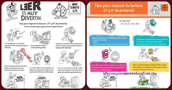 Tips para mejorar tu lectura (5° y 6° de primaria)