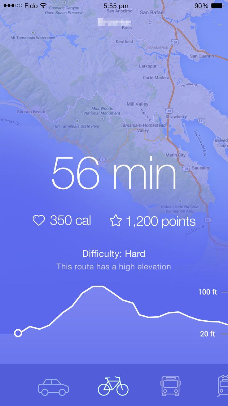 Cycling map purple