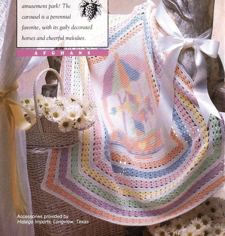 Crochet Baby Blanket Carousel Horse See The Small Card