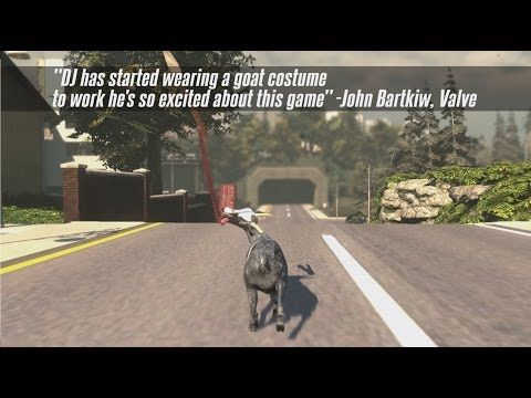 Goat Simulator coming to Steam! - Pre-Order Trailer i just want a real goat...