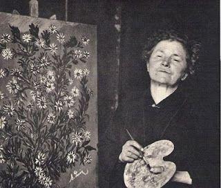 INFINITO PARTICULAR: Mulheres que fizeram história - Seraphine de Senlis  A própria pintora fabricava suas tintas e muitas vezes suas próprias telas..