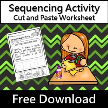 This sequencing activity sheet forms part of the Sequencing Activities Pack 10 cut and paste activity sheets. Students read the story and then cut and paste the story in the correct order. A great way to assess student understanding of first, then, next and lastly.This download does not contain photographs but uses quality clip art - please study the preview images to make sure you understand what you are downloading.